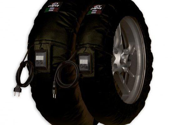 【商品のご案内++】 Capit タイヤウォーマー スープレマ ビジョン for Moto GP サイズ / JSB1000 サイズ 前後セット ファイヤープルーフ (耐熱仕様)