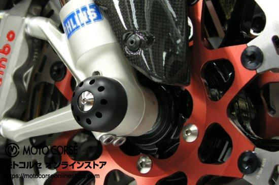 【商品のご案内++】 アクスルスライダー with チタニウム フロント for Ducati 1198 / Multistrada 1200 / Monster 1200 / Supersport 939